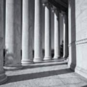 Jefferson Memorial Columns And Shadows Art Print