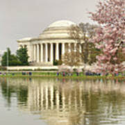Jefferson Memorial Reflection I Art Print