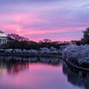 Jefferson Memorial Sunrise Art Print
