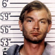Jeffrey Dahmer Mug Shot 1991 Square  Art Print
