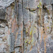 Jenn Krogue Climbs A Route Called Thin Slice Which Is Rated 5.10 Art Print