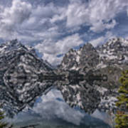 Jenny Lake And The Cathedral Art Print