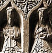 Jerpoint Abbey Irish Tomb Weepers Saints County Kilkenny Ireland Sepia Art Print
