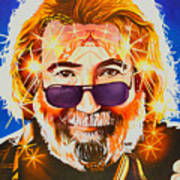 Jerry Garcia-dark Star Art Print
