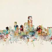 Jersey City New Jersey Skyline Art Print
