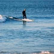 Jersey Shore Surfer Art Print