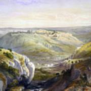 Jerusalem From The South Art Print