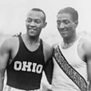 Jesse Owens 1913-1980 With Ralph Print by Everett