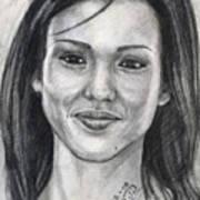 Jessica Alba Portrait Art Print