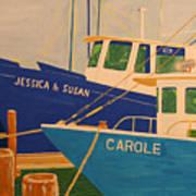 Jessica and Susan Art Print