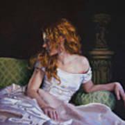 Jessica Daydreaming Print by Jean Hildebrant