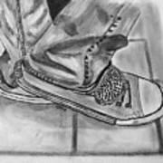 Jessicas Sneakers Art Print