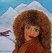 Jessyca And The Plane Art Print