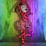 Jester Rainbow Girl  Art Print