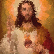 Jesus Abstract Art Print