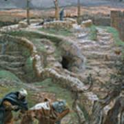 Jesus Alone On The Cross Art Print