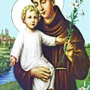 Jesus And Saint Anthony Art Print