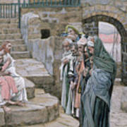 Jesus And The Little Child Art Print by Tissot