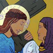 Jesus And Veronica Art Print