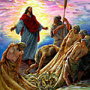 Jesus Appears To The Fishermen Art Print
