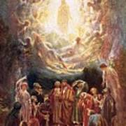 Jesus Ascending Into Heaven Art Print by William Brassey Hole