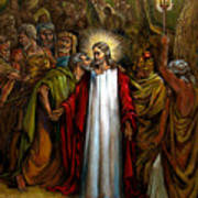 Jesus Betrayed Art Print