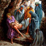 Jesus Burial Art Print