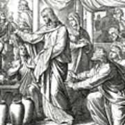 Jesus Changes Water Into Wine, Gospel Of John Art Print