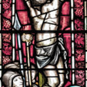 Jesus Christ Crucifixtion Stained Glass Art Print