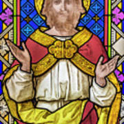 Jesus Christ Stained Glass Art Print