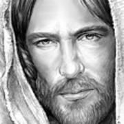Jesus Face Art Print