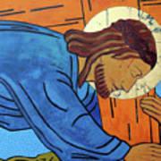 Jesus Falls Under The Cross Art Print