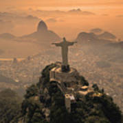 Jesus In Rio Art Print by Christian Heeb