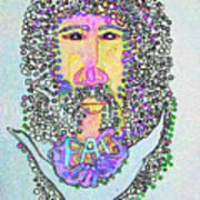 Jesus King Of Peace Art Print