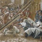 Jesus Meets His Mother Art Print