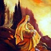 Jesus On The Mountain Art Print
