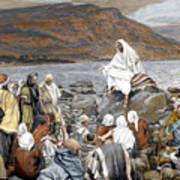 Jesus Preaching Art Print