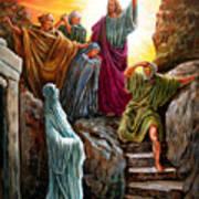 Jesus Raises Lazarus Art Print