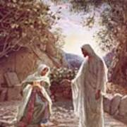 Jesus Revealing Himself To Mary Magdalene Art Print