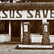 Jesus Saves 1973 Art Print