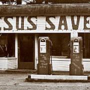Jesus Saves 1973 Art Print