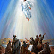 Jesus Taken Up Into Heaven Art Print