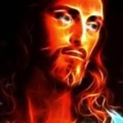 Jesus Thinking About You Art Print by Pamela Johnson
