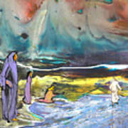 Jesus Walking On The Water Art Print