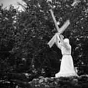 Jesus With Cross Art Print