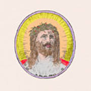 Jesus With The Crown Of Thorns Art Print