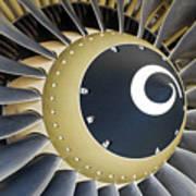 Jet Engine Detail. Art Print