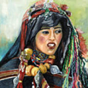 Jeune Femme Berbere De Atlas Marocain Art Print
