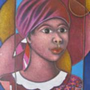 Jeune Fille En Rose Art Print