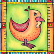 Jewel Rooster II  Art Print